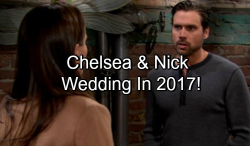 'The Young and the Restless' Spoilers: Nick and Chelsea 2017 Wedding - Optimism Overtakes Holiday Gloom