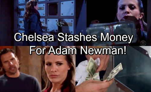 The Young and the Restless Spoilers: Chelsea Knows Adam's Alive - Hides Stacks of Cash For 'Dead' Husband's Return