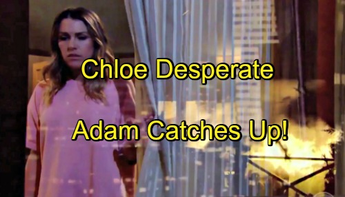 The Young and the Restless Spoilers: Chloe Uses Kevin For Protection as Adam Newman Evil Secrets Catch Up With Her