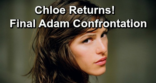 The Young and the Restless Spoilers: Elizabeth Hendrickson Returns To Y&R - Chloe Back For Final Adam Confrontation