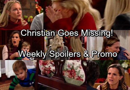 The Young and the Restless Spoilers: Week of Jan. 1 Update - Christian Goes Missing – Sharon Attacks Scott, Slaps Abby