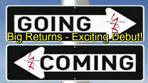 The Young and the Restless Spoilers: Big Returns, Exploding Revelations and an Exciting Debut - Comings and Goings