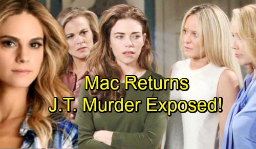The Young and the Restless Spoilers: Mac's Back for Exploding J.T. Drama – Cover-up Crew Finally Pays the Price