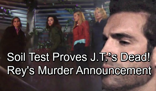 The Young and the Restless Spoilers: Rey's Soil Test Proves J.T.'s Dead – Murder Press Conference Brings Cover-up Crew Panic