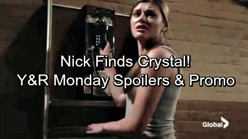 The Young and the Restless Spoilers: Monday, July 31 - Nick Finds Crystal – Lily's Discovery Sparks Panic