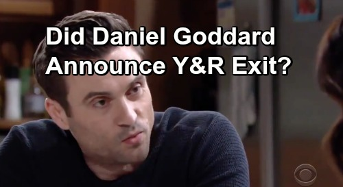 The Young and the Restless Spoilers: Daniel Goddard's Mystery Tweet Suggests Y&R Exit - Cane Leaving GC?