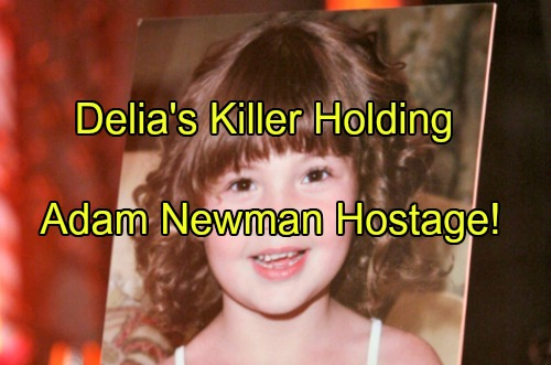 'The Young and the Restless' Spoilers: Delia's Killer Holding Adam Newman Hostage – Two Mysteries Solved in February Sweeps