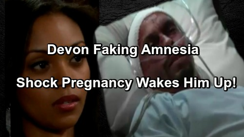 The Young and the Restless Spoilers: Devon Fakes Amnesia to Destroy Hilary - Shock Pregnancy Derails Plan?