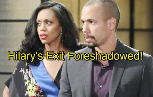 The Young and the Restless Spoilers: Hilary's Involvement with Nate Telegraphs Mishael Morgan's Final Scenes