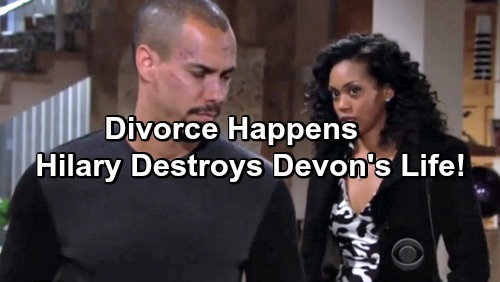 The Young and the Restless Spoilers: Hilary Agrees To Divorce – Devon Pays Price For Stealing Dad's Wife, Faces Nasty Endgame