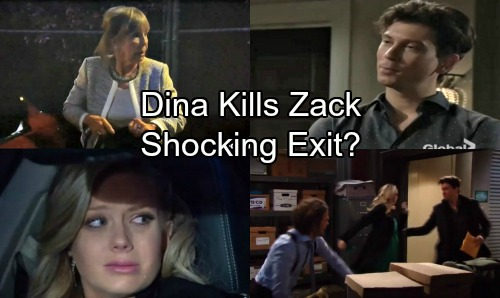 The Young and the Restless Spoilers: Dina Forced to Kill Zack in Fierce Faceoff – Sex Ring Leader's Shocking Exit?