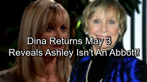 The Young and the Restless Spoilers: Marla Adams Returns May 3 - Dina Mergeron Exposes Ashley's Secret - She Isn't An Abbott