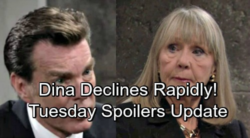 The Young and the Restless Spoilers: Tuesday, August 28 – Dina's Decline Revs Up Jack's Father Hunt – Billy Destruction Takes Shape