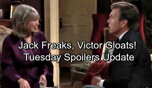 The Young and the Restless Spoilers: Tuesday, May 8 Update – Victor Gloats Over Jack's Shock – Sharon and Nick Friends With Benefits
