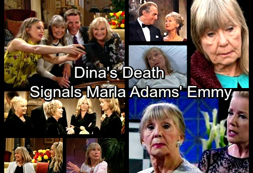 The Young and the Restless Spoilers: Dina's Death Signals Marla Adams' Daytime Emmy Award Win