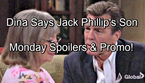 The Young and the Restless Spoilers: Monday, June 25 – Dina Confirms Jack's a Chancellor - Victor Health Shocker Leaked, J.T. Blamed