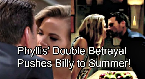 The Young and the Restless Spoilers: Phyllis' Double Betrayal Burns Billy – Pushes Him to Summer's Bed, Revenge Hookup Is Sweet