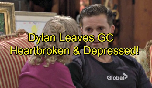 The Young and the Restless Spoilers: Steve Burton Y&R Exit - Dylan Can't Cope with Christian Situation – Leaves GC in Despair