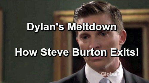 The Young and the Restless Spoilers: Loss of Another Son Moves Dylan Towards Meltdown - Steve Burton's Y&R Exit Explained