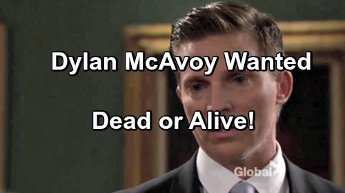 'The Young and the Restless' Spoilers: Dylan McAvoy Wanted Dead or Alive?