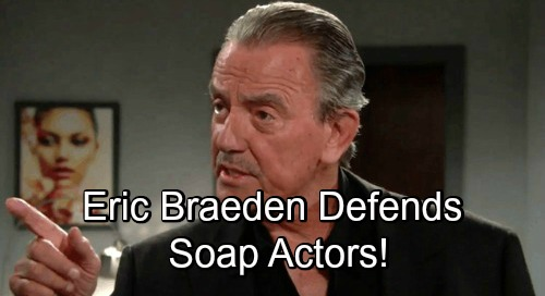 The Young and the Restless Spoilers: Eric Braeden Blasts Prime Time Actor - Defends Soap Actors Against Brutal Insult