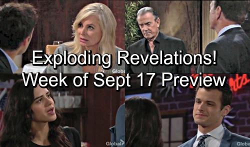 The Young and the Restless Spoilers: Week of September 17-21 – Fierce Wars, Huge Risks and Exploding Revelations