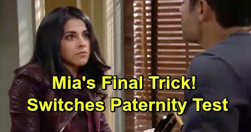 The Young and the Restless Spoilers: Desperate Mia Switches Paternity Test Results – Makes Rey Baby Daddy Instead of Arturo