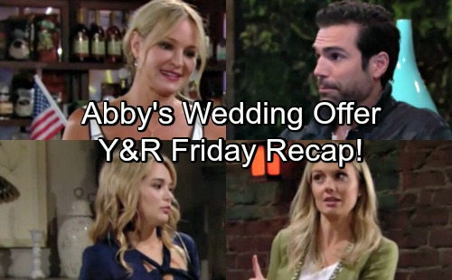 The Young and the Restless Spoilers: Friday, August 17 Update – Rey Deceives Nick and Sharon – Abby's Surprising Wedding Offer