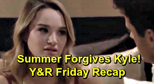 The Young and the Restless Spoilers: Friday, April 12 Recap – Summer Forgives Kyle For Lola Cheating – Jack Defeats Phyllis' Blackmail
