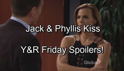 The Young and the Restless Spoilers: Jack Forces Phyllis Out of Town, Leads to Passionate Kiss – Reconciliation Begins