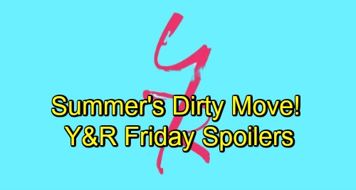 The Young and the Restless Spoilers: Friday, November 16 – Sneaky Summer Makes a Play for Kyle – Nick's Daring Move – Billy Steps Up