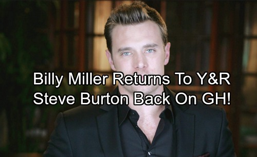 The Young and the Restless Spoilers: Billy Miller Returns as Billy Abbott – Steve Burton's Return To GH Leads to Y&R Drama