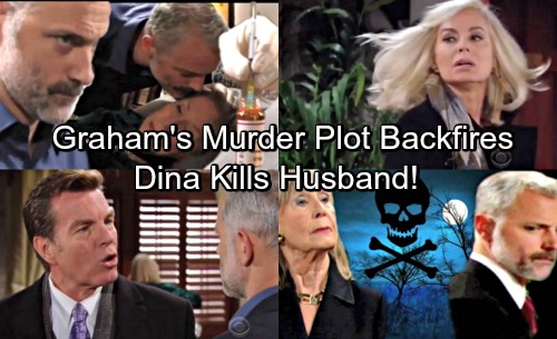 The Young and the Restless Spoilers: Graham Attempts Murder - Dina Kills Husband in Self-defense