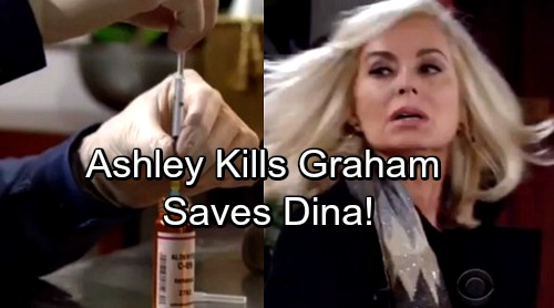 The Young and the Restless Spoilers: Ashley Kills Off Graham – Saves Dina From Bloodworth's Attempted Murder