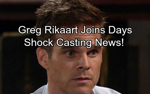 Days of Our Lives Spoilers: Y&R Star Greg Rikaart Joins DOOL In Shock Casting News - What Happens to Kevin Fisher?