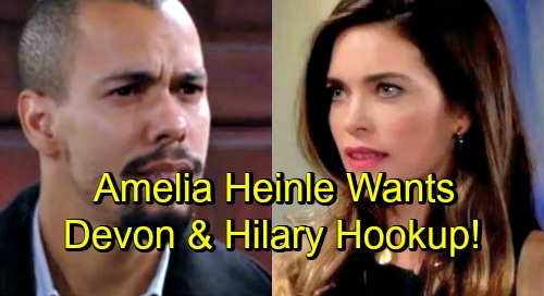 The Young and the Restless Spoilers: Amelia Heinle Wants Victoria and Devon to Hook Up – Hopes for Fun Y&R Fling