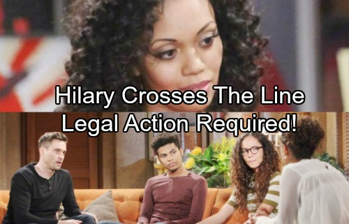 The Young and the Restless Spoilers: Hilary Breaks The Law - Protective Order Needed – Twins Must Be Defended
