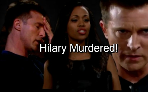 'The Young and the Restless' Spoilers: Hilary Murdered, Ruthless GC Buzz Tactics Drive Dylan Over The Edge