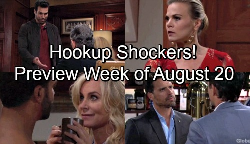 The Young and the Restless Spoilers: Hot Promo Week of August 20-24 – Hookup Shockers, Hidden Agendas and Vicious Wars