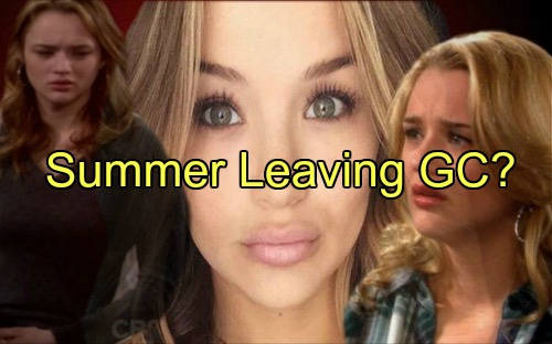 The Young and the Restless (Y&R) Spoilers: Hunter King Bumped To Recurring Status, Summer Newman Leaving Town?