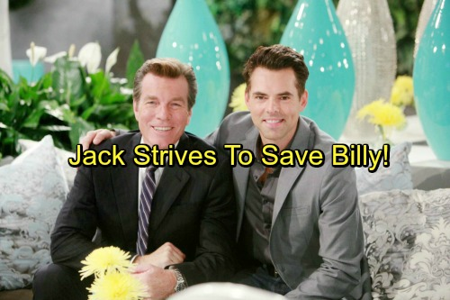 The Young and the Restless Spoilers: Jack Strives To Save Billy's Life - Fire At The Underground Forces Reflection