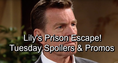 The Young and the Restless Spoilers: Tuesday, October 23 – Jack Fights Jabot Bankruptcy, Plays Dirty – Lily's Prison 'Escape'