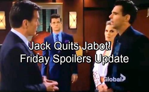 The Young and the Restless Spoilers: Friday, May 25 Update – Jack Quits, Kyle Sticks with Billy – Abby Invites Arturo to Miami