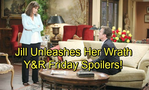 The Young and the Restless Spoilers: Friday, July 13 – Jill Returns to Unleash Her Wrath – Victor Vows to Finish J.T. War