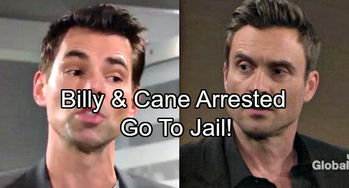 The Young and the Restless Spoilers: Billy and Cane Arrested, Wild Drunks Spend Night Behind Bars