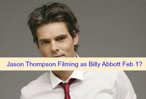 The Young and the Restless (Y&R) Spoilers: Jason Thompson Takes Over Y&R Billy Abbott from Burgess Jenkins February 1?