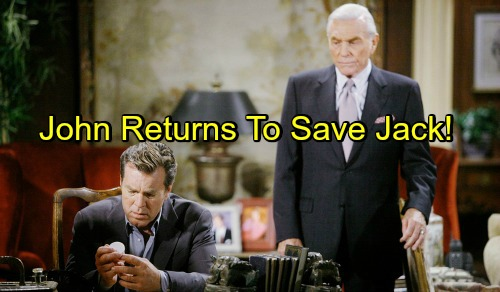 The Young and the Restless Spoilers: Jack Crashes, But Doesn't Burn – John Returns To Console Son