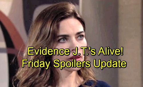 The Young and the Restless Spoilers: Friday, June 22 Update – Mac Reveals Evidence J.T.'s Alive – Shick Engagement Party Drama