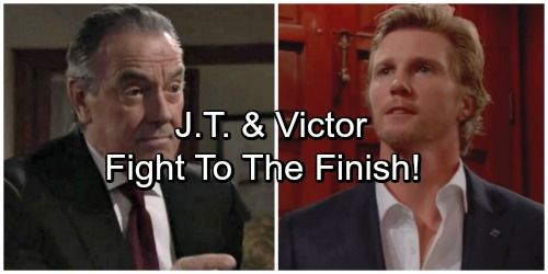 The Young and the Restless Spoilers: J.T. and Victor Fight To The Finish – Vickie Caught Between Dad, Ex-Husband and Son