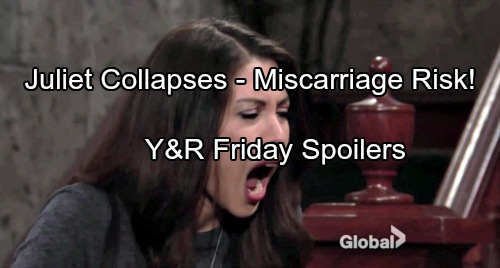 The Young and the Restless Spoilers: Friday, September 22 - Juliet Collapses In Intense Pain, Faces Miscarriage Baby Crisis?